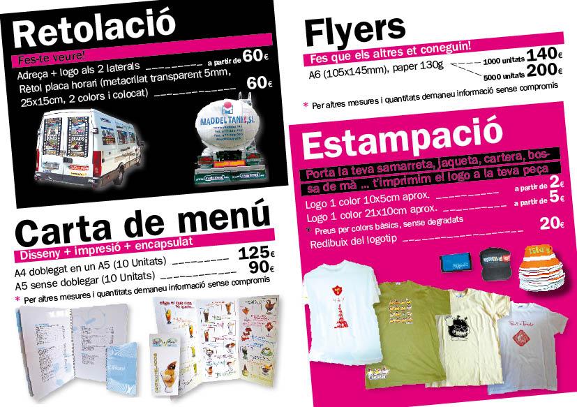 Flayer promoció estiu 2011